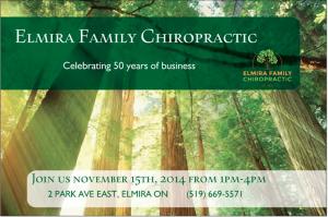Elmira Family Chiropractic is Celebrating 50 Years of Dedicated Service to the Elmira Community 1